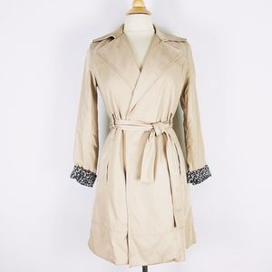 ZARA XS Trench Coat Tan/Khaki/Cream w/ Belt